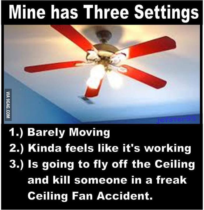 My ceiling fan's speed settings