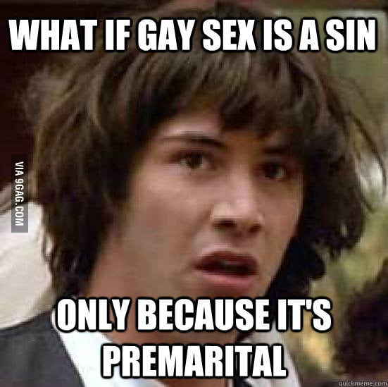 What if gay sex is a sin only because...