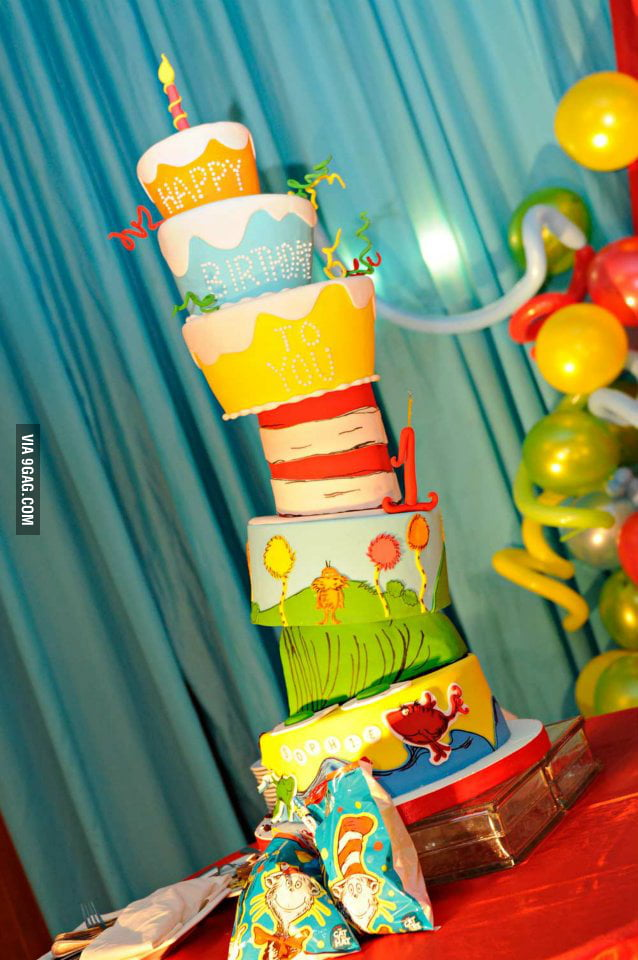 Dr. Seuss Birthday Cake