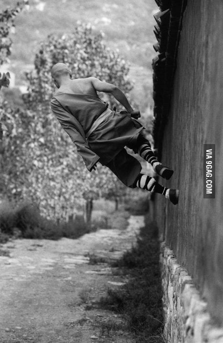 A Shaolin Monk out for a walk