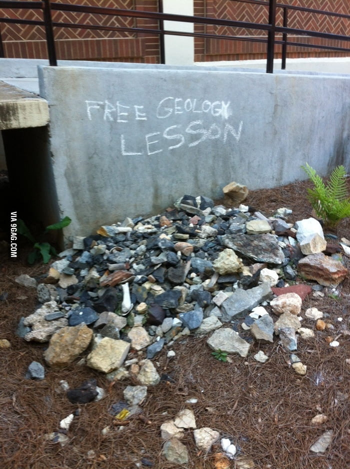 My friend stumbled on this behind the Geology building