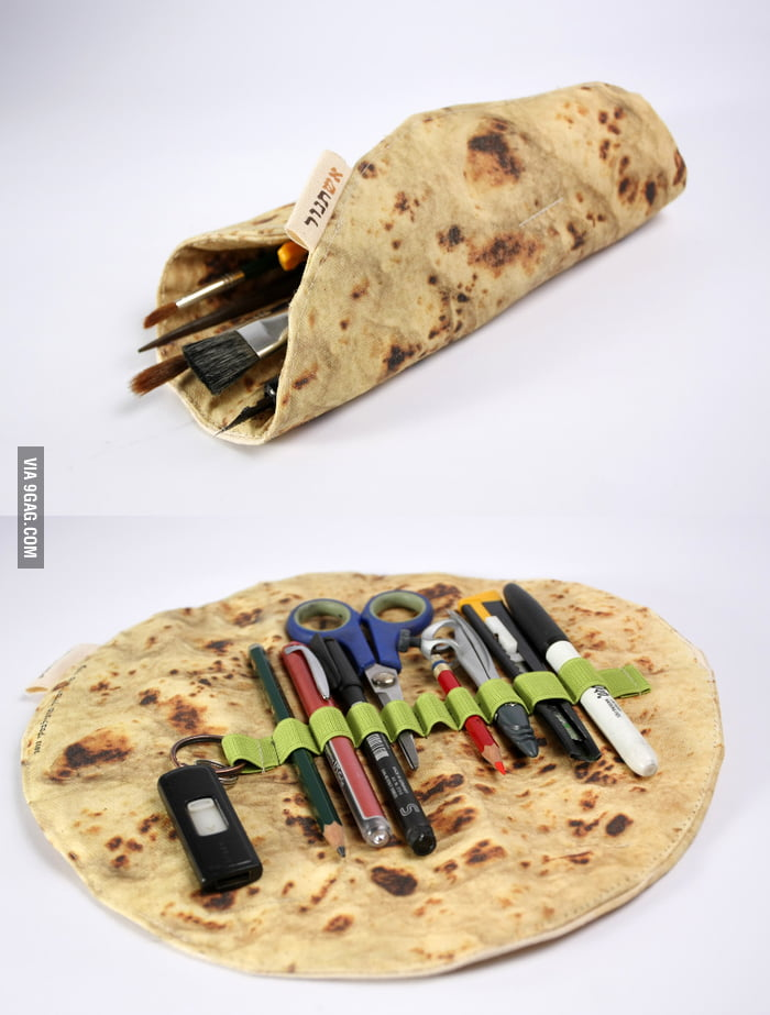 Delicious Pita Bread Pencil Case