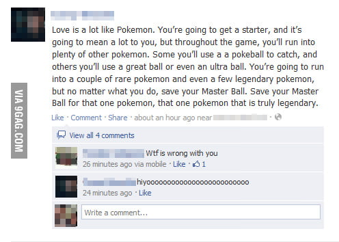 Love is a lot like Pokemon.
