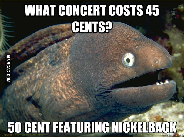 What concert costs 45 cents?