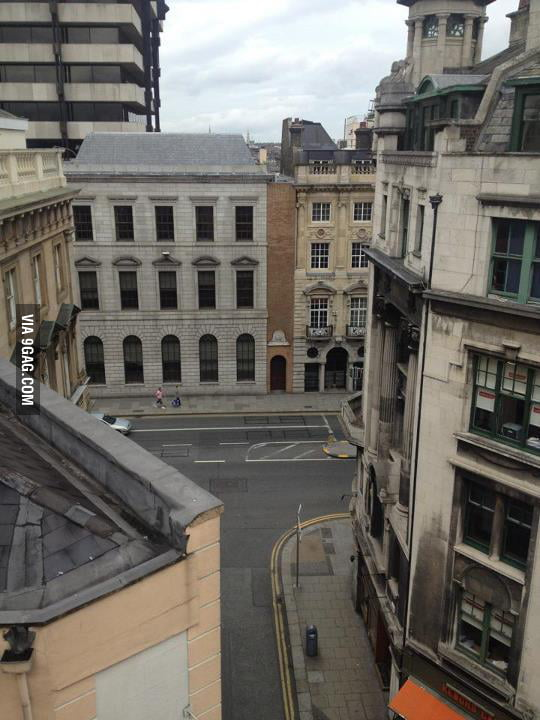 Thinnest building in Dublin, Ireland.