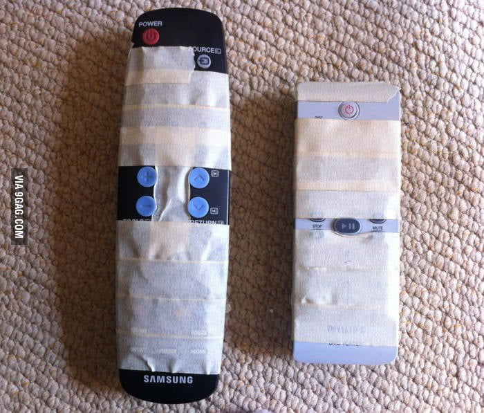 Grandma is having troubles using the remotes. I fixed it!