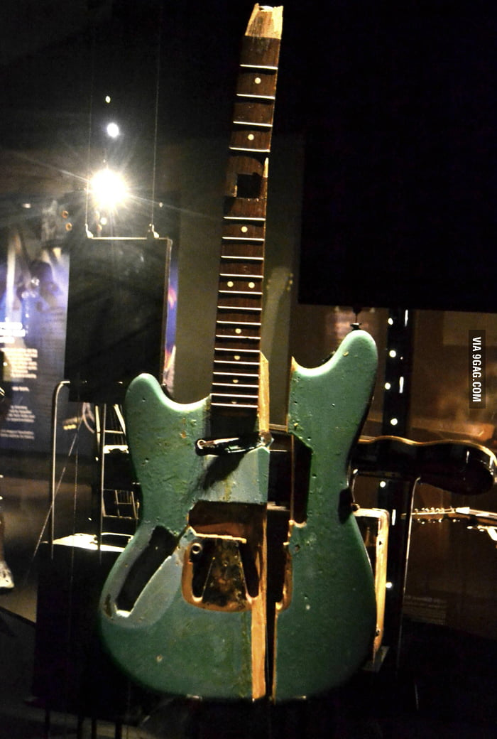 The first guitar that Kurt Cobain smashed on stage...