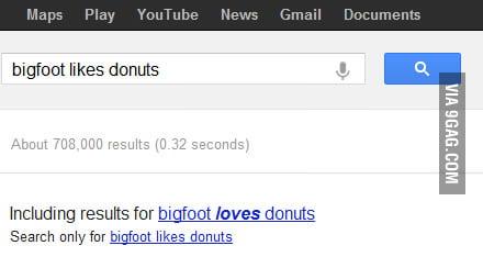 Bigfoot likes donuts