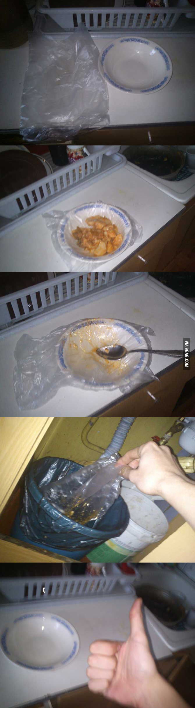How not to ever wash the dishes