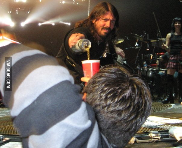 Dave Grohl Doesn't Like Thirsty Fans