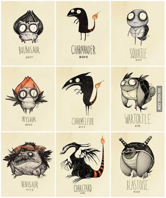 Tim Burton inspired Pokémon Re-Designs