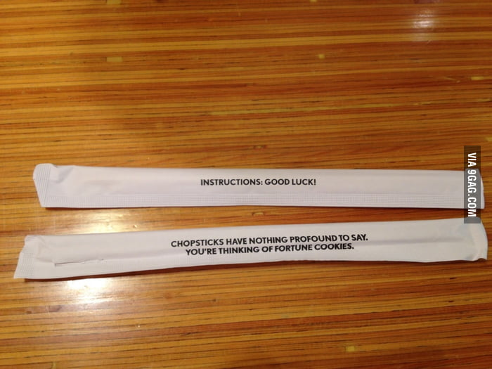 The chopsticks at Noodles and Co.