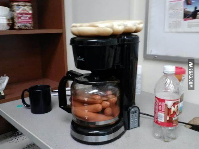 Someone I know made hotdogs at work