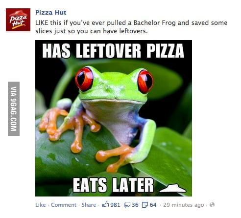 Pizza Hut's horrible attempt at meme...