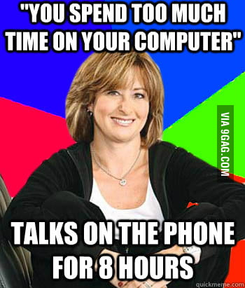 My mom does this. Anyone else?