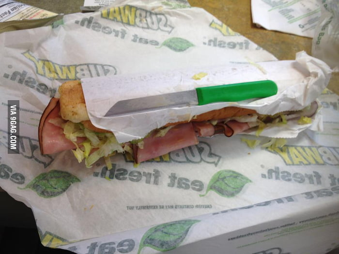 Got something extra in the Subway sandwich...