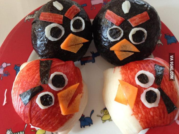 Angry Bird Rice Roll!