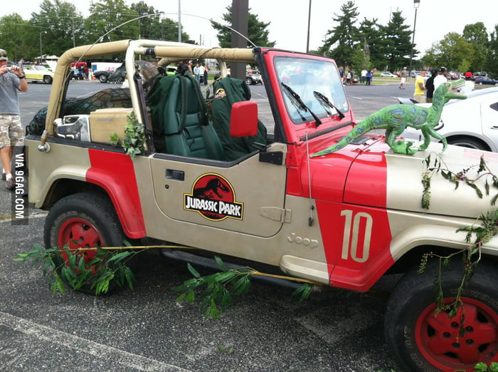 Just the jeep in Jurassic Park