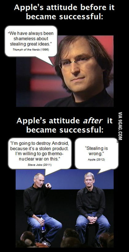Apple's attitude before/after it became successful