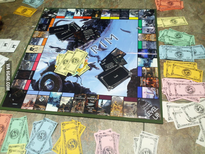 Homemade Skyrim Monopoly Board