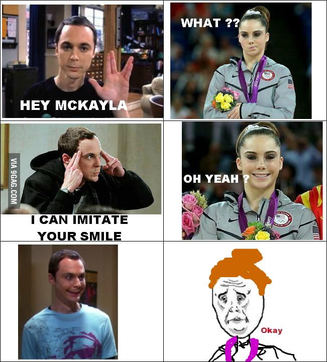 Sheldon Cooper VS McKayla Maroney