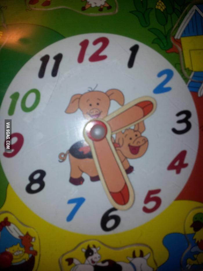 Weird Pig Clock