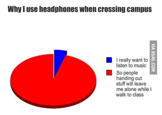 Listening to music at school