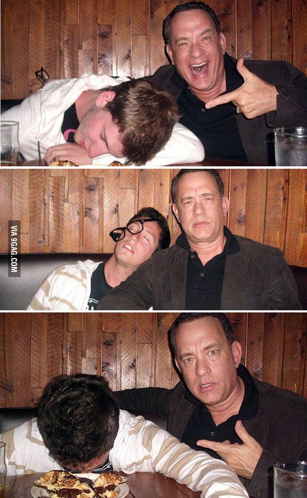Tom Hanks and a drunk fan