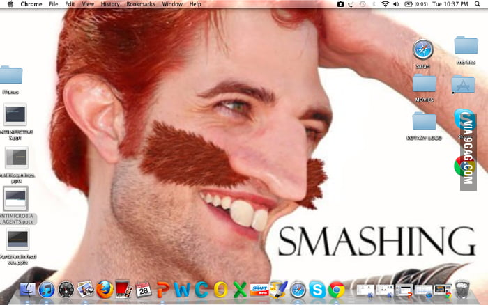 My dad just changed my desktop wallpaper