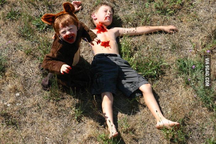Bear attack, northern Michigan