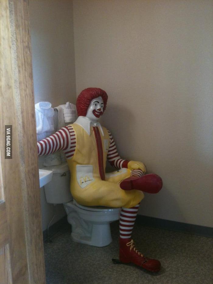 Found him in the school bathroom