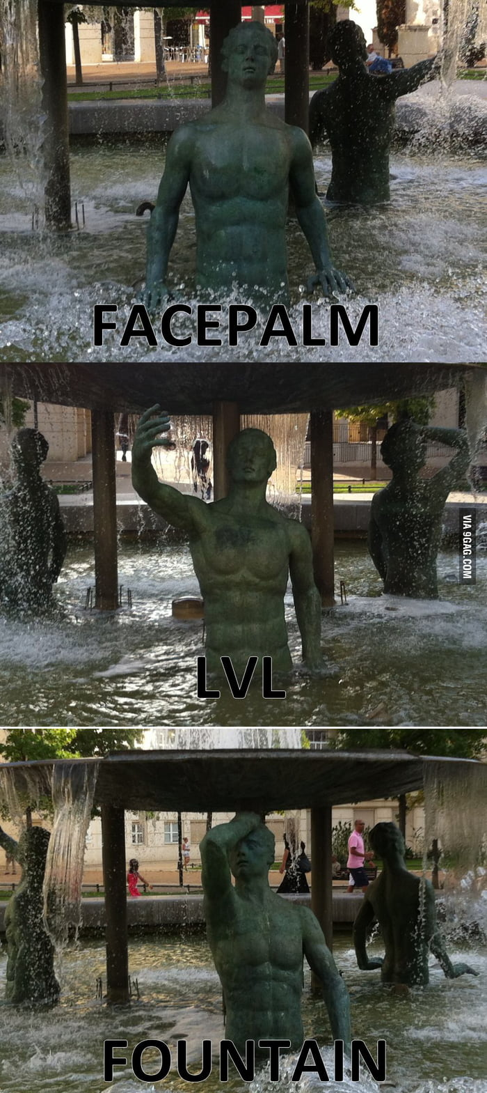 Meanwhile in France: Facepalm lvl ... FOUNTAIN