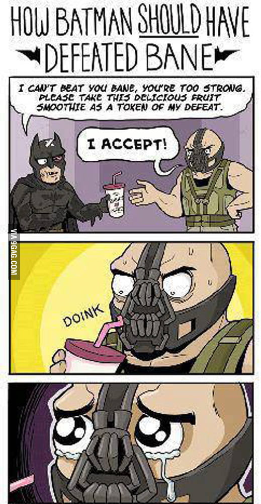 How Batman Should have defeated bane!