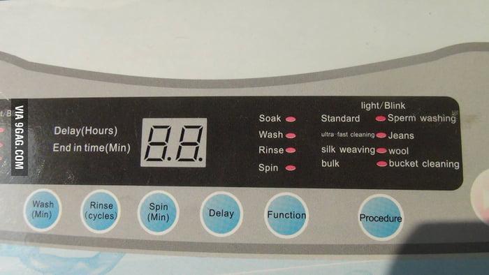 A washing machine in China