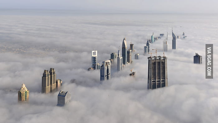 The city in the cloud, Dubai.