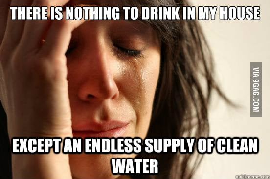 Endless supply of clean water