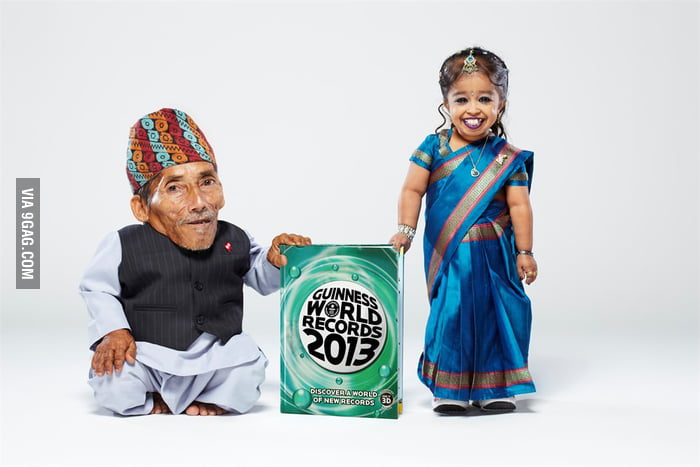 World's Shortest Man and Woman