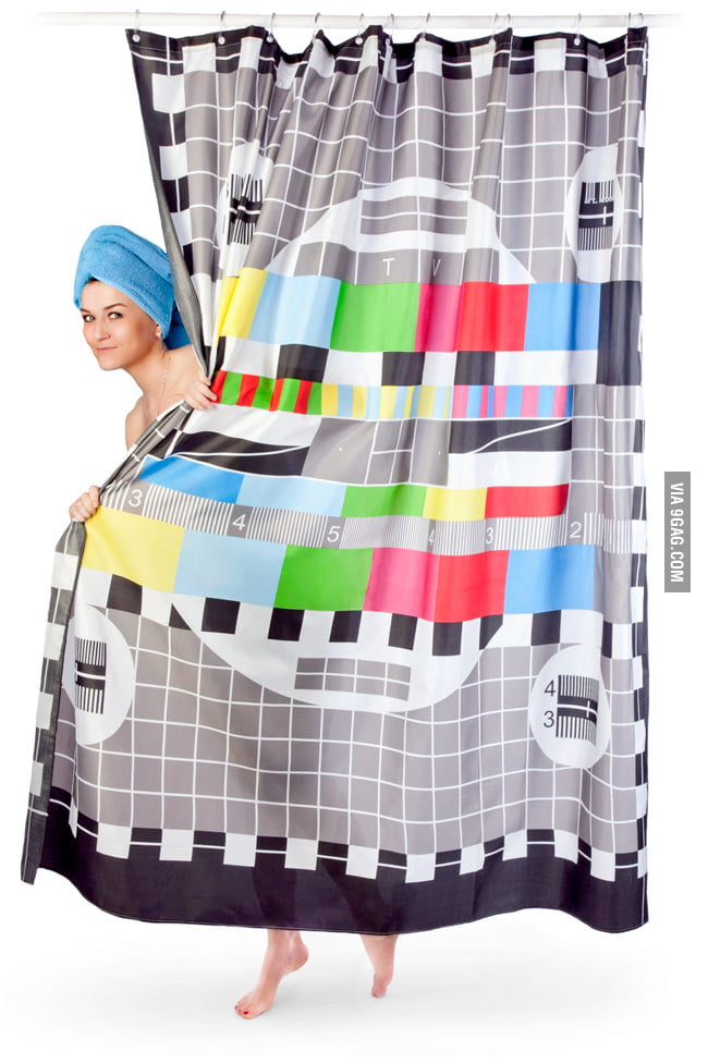 TV Test Pattern Shower Curtain