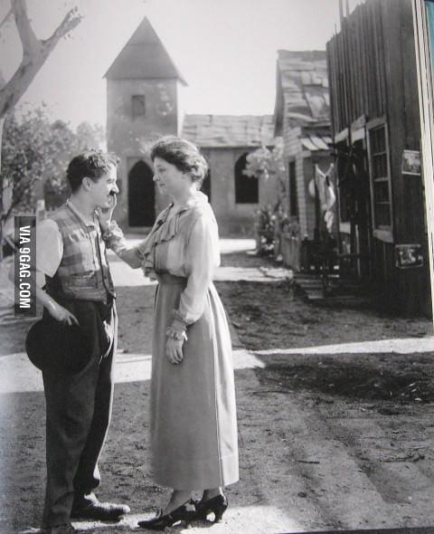 Charlie Chaplin and Helen Keller