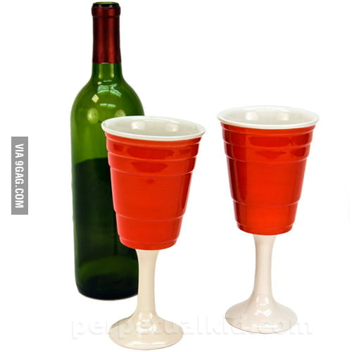 Classic Beer Pong Red Cup Wine Glass