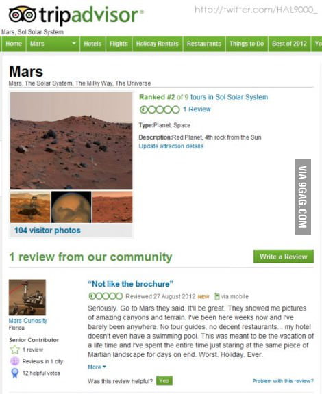 Go to Mars they said...