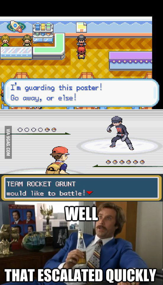 Team Rocket can be overprotective.