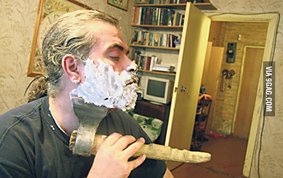 How real man shave