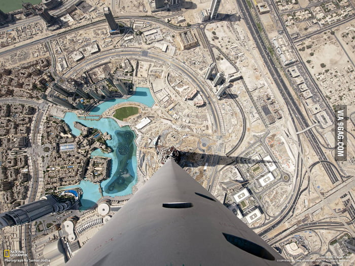 Awesome View from Top of Burj Khalifa