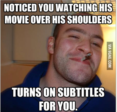Good Guy Greg in the train