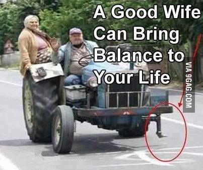 Good Balance In Life With A Fat WIfe