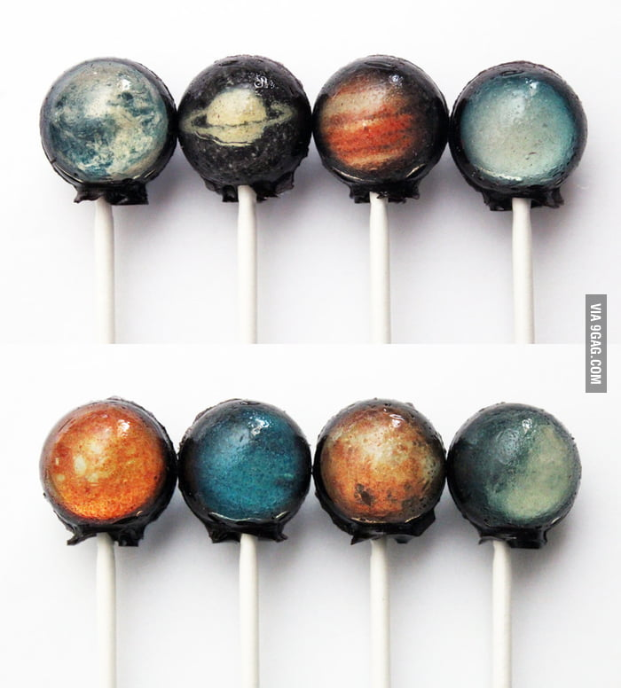 Solar System Planets Lollipops