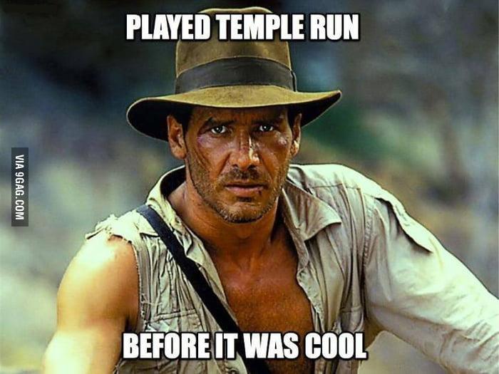 Every time I play Temple Run, I think about Indiana Jones.