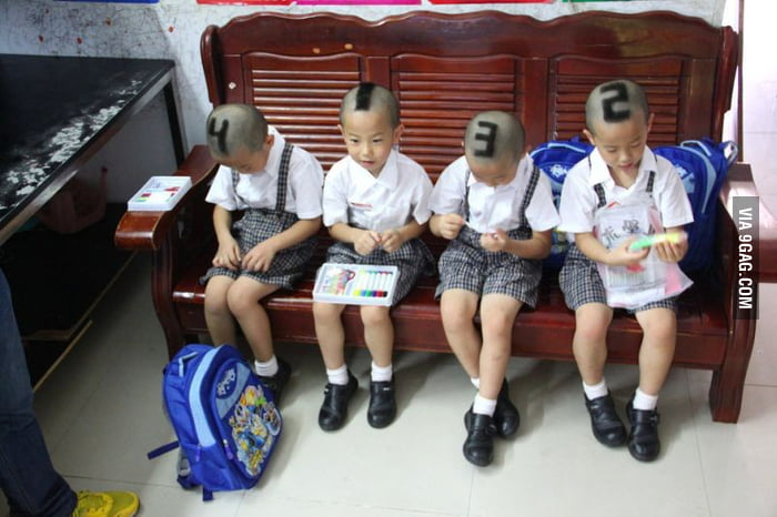 How to distinguish quadruplets... Lvl China