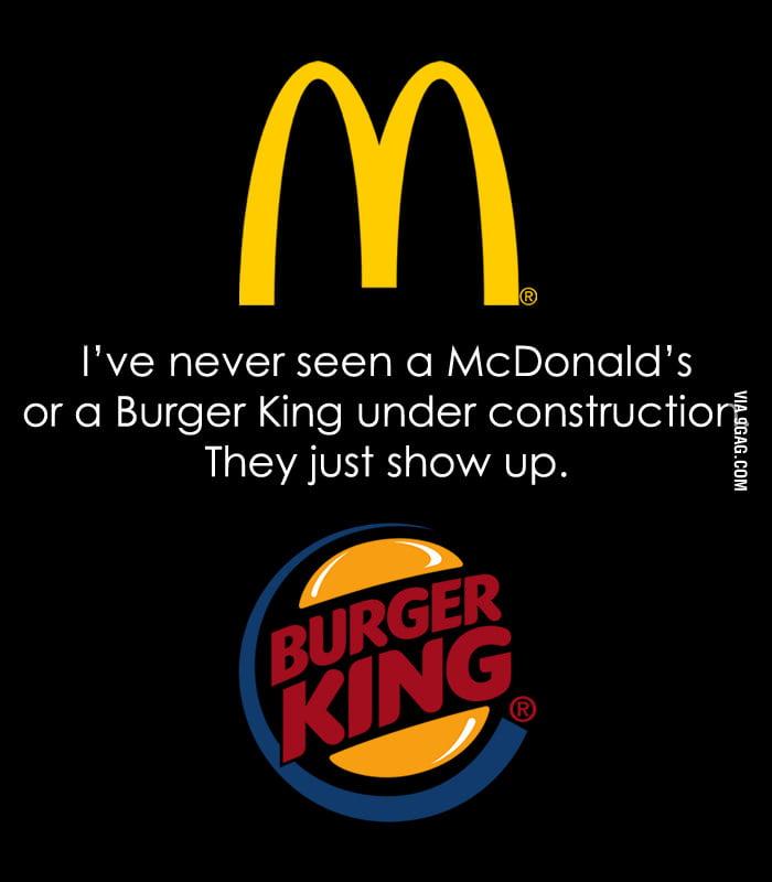 Magical McDonald's and Burger King.